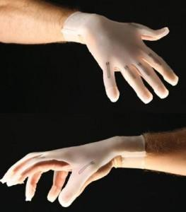 3D printed strain sensors within gloves to detect hand gestures