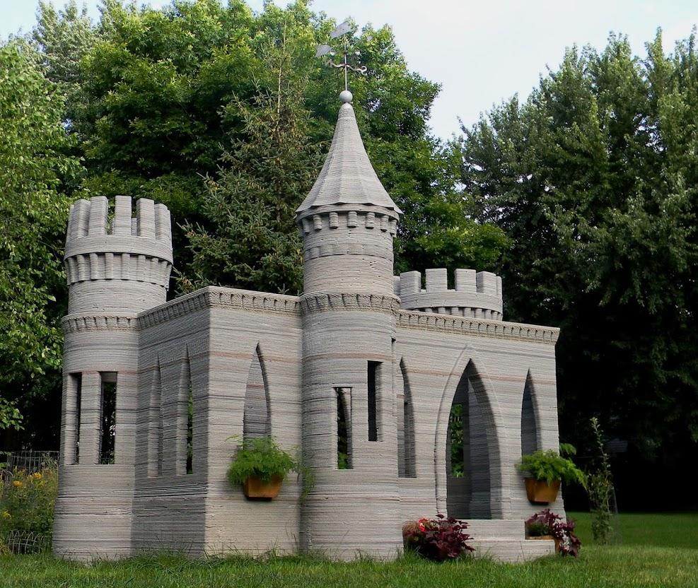 world s first 3d printed castle is complete andrey