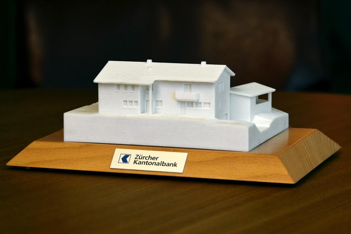 Mortgage lender entices client with a 3d printed home Home 3d model