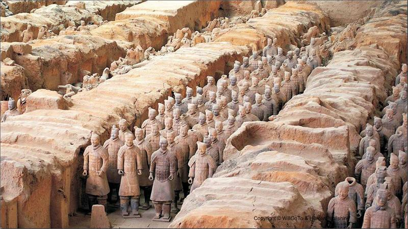 The actual Terracotta Army in China