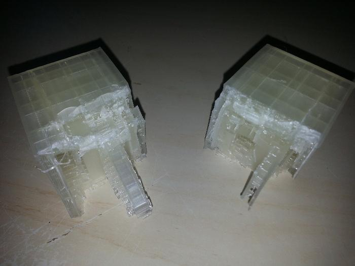 The two 3D printed halves of Aquapura