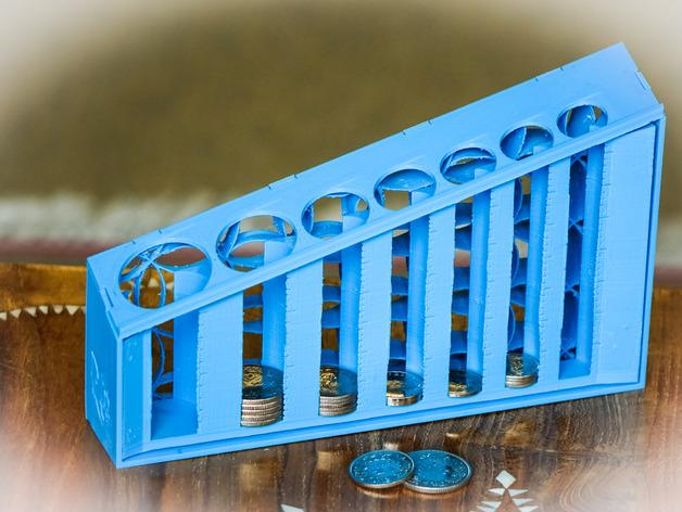 3d print this coin sorter to sort your loose change quickly the voice of 3d - Sorting coin bank ...