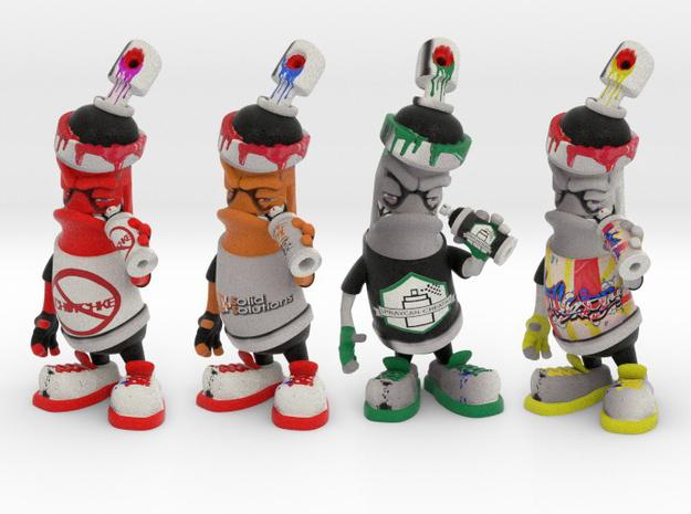3d Printed Graffiti Spray Can Characters From Customization To