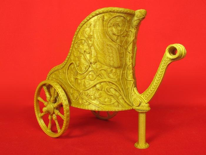 3d Printed Barbie Chariot Pulled By Cat Featured In New