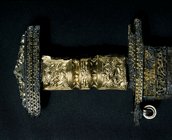 The hilt of the original, 6th-century sword.