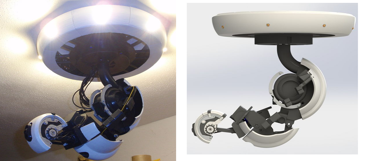 Glados Portal 3d Print L moreover Watch in addition Watch as well Machine Maintenance Checklist further Putting A Plug On A Light Fitting. on lamp wiring