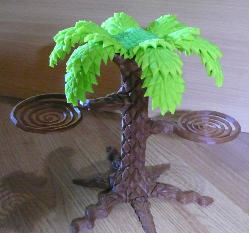 3D Printed Cartoon-Style Palm Tree Holds Your Fresh Fruit