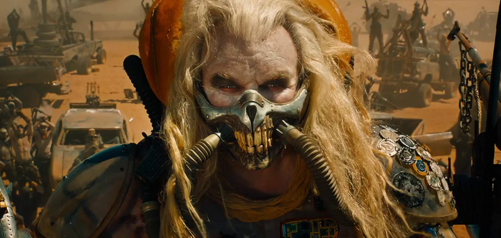 The terrifying warlord Immortan Joe from Mad Max Fury Road played by Hugh Keays-Byrne.