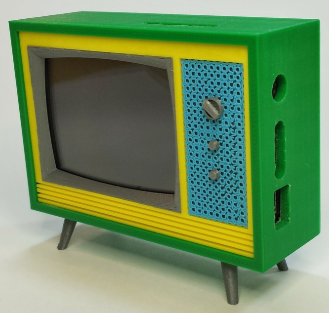 Dollhouse Miniatures Tv: 3D Print Your Own Retro Style Working Miniature Television