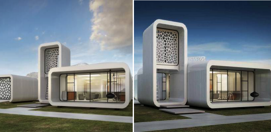 worlds first 3d printed office building complete with 3d printed furniture interior to be - 3d Design Building