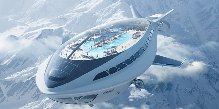 A Flying Cruise Liner Concept - A dream that Dassault Systèmes claims their software can bring to life.