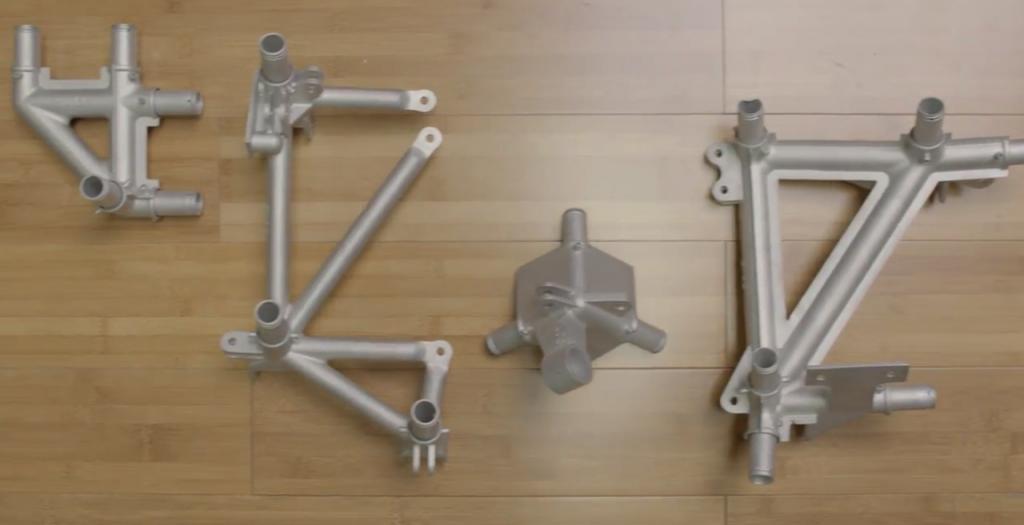 Individual 3D printed aluminum nodes
