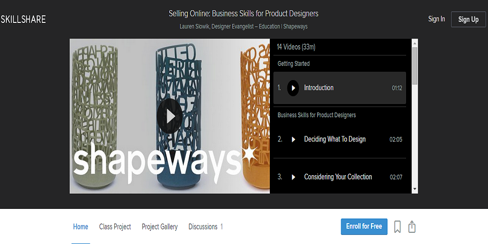 shapeways skillshare