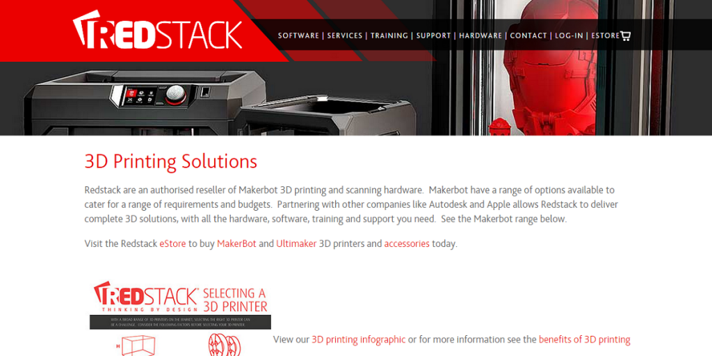 redstack 3d printing solutions