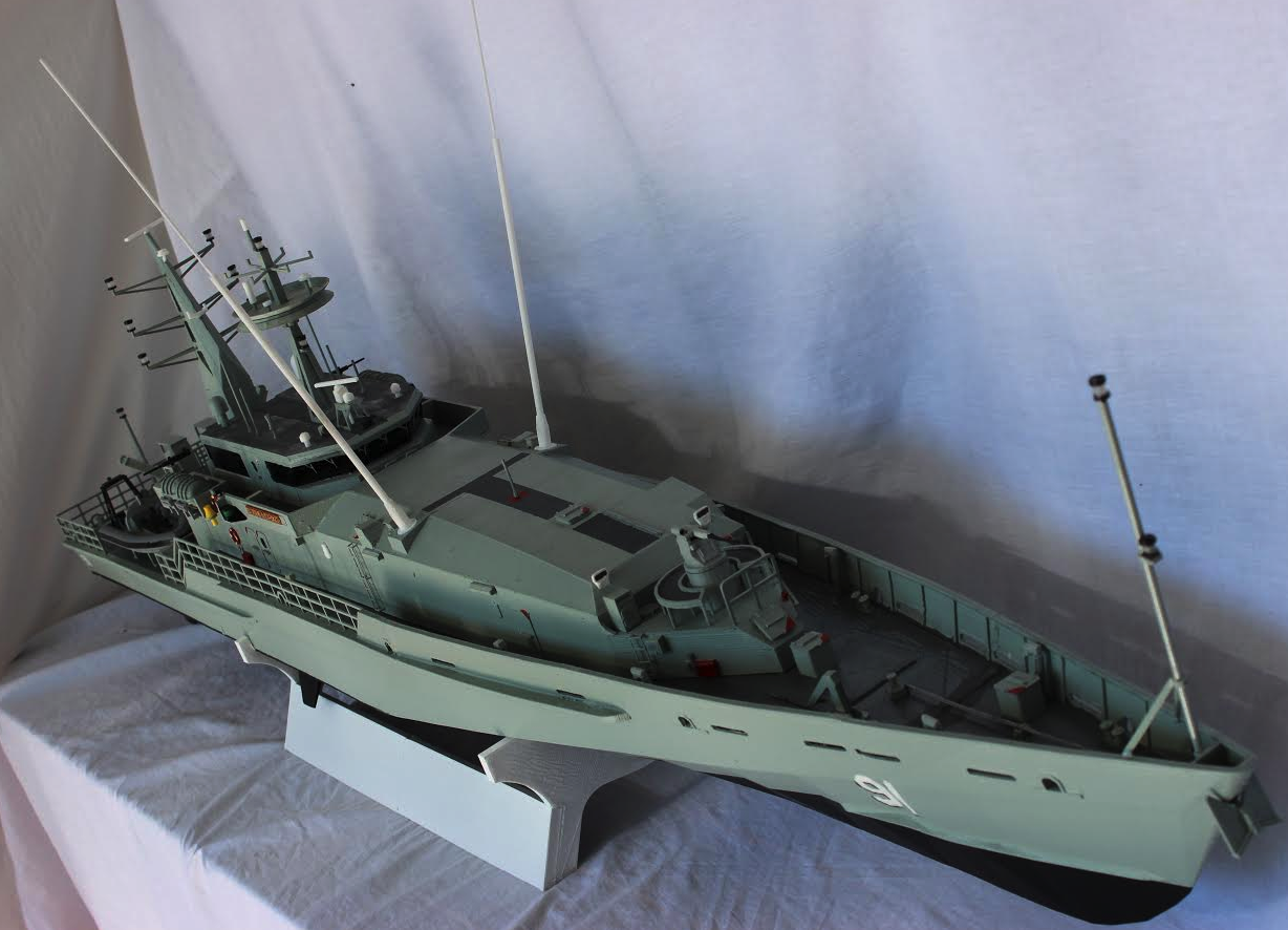 Man 3D Prints Huge 5 1/2 Foot Long RC Armidale-class Patrol Boat — Larger Models on the Way ...