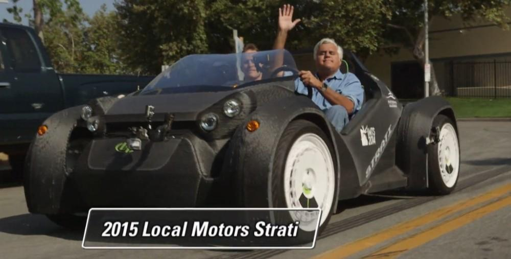 Jay Leno Takes Local Motors 3d Printed Strati For A Spin