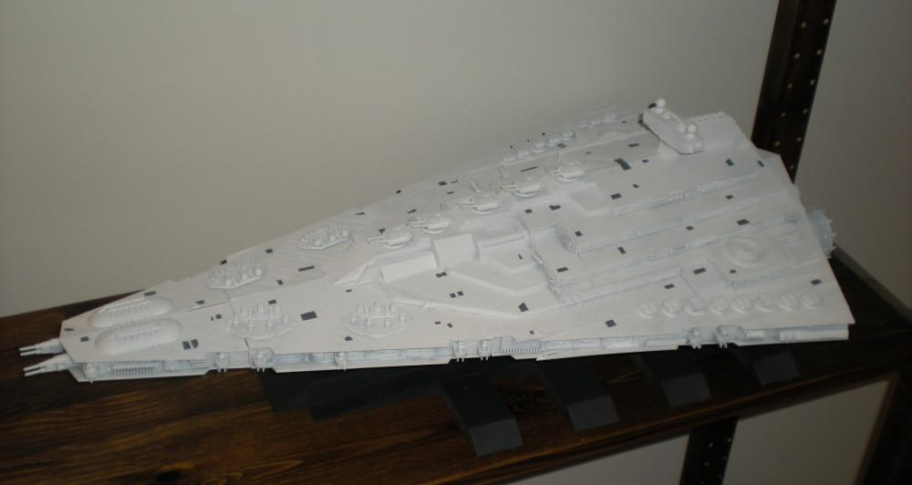 This Star Destroyer model is two feet long.