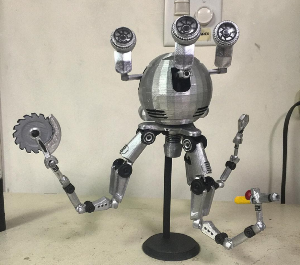 Fallout 4 Super Fan 3d Prints An Awesome Articulated Codsworth