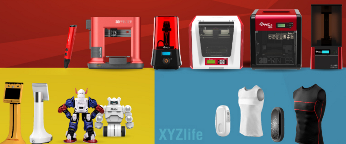 Eight new 3D printers, a line of wearables and new robots signal a big year for XYZprinting.
