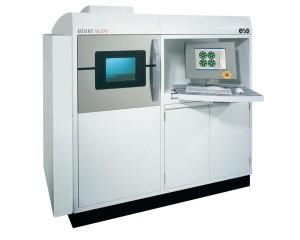 The EOSINT M 270 direct metal laser sintering 3D printer.