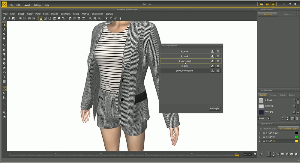 Virtual shopping with a 3D avatar.