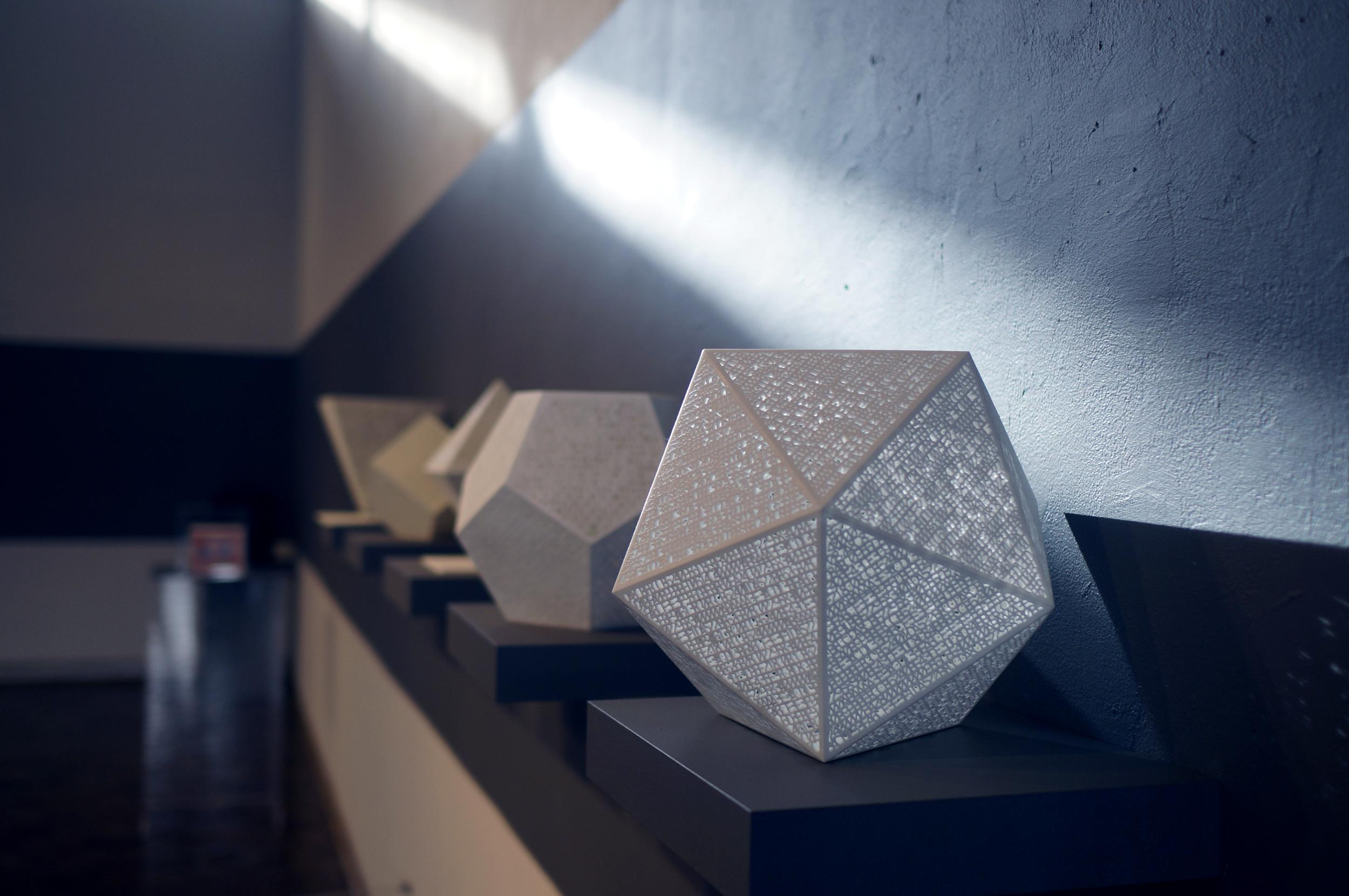 BUNKER Gallery Embraces 3D Printed Art | 3DPrint.com Platonic Solids Art