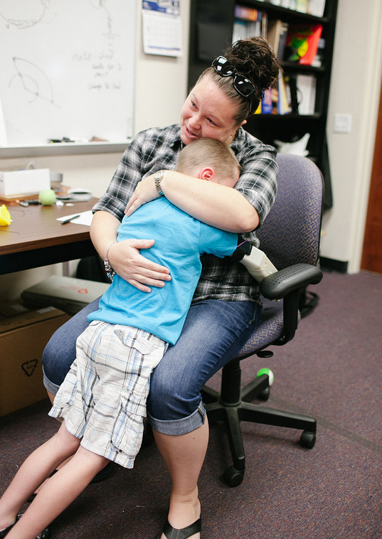 6 Year Old Boy Hugs Mom For First Time, Thanks To The -7500