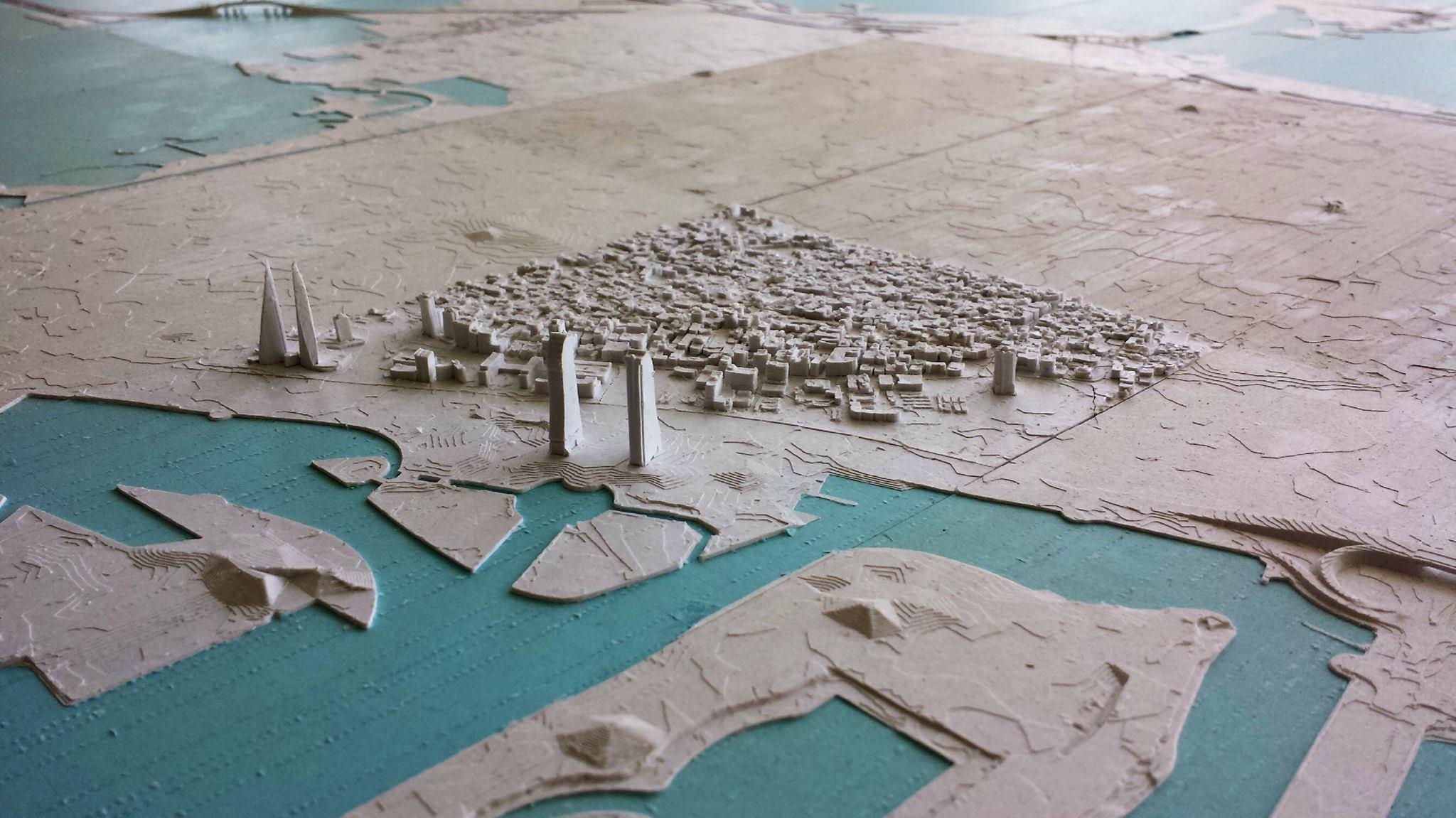 The Entire Country of Bahrain has Been 3D Printed in a Huge 1:10,000-scale Model