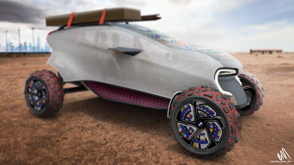 BMW Introduces Future 3D Printable Concept Vehicle Specifically Designed for the Serengiti