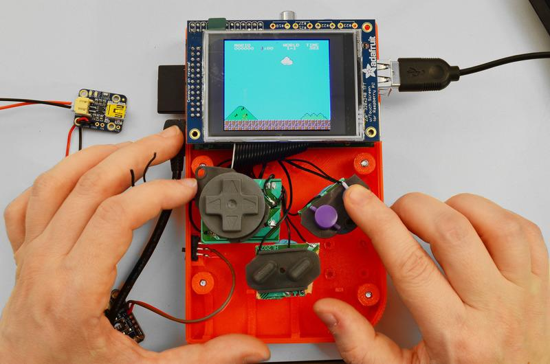 Adafruit 3d Prints Raspberry Pi Based Gameboy