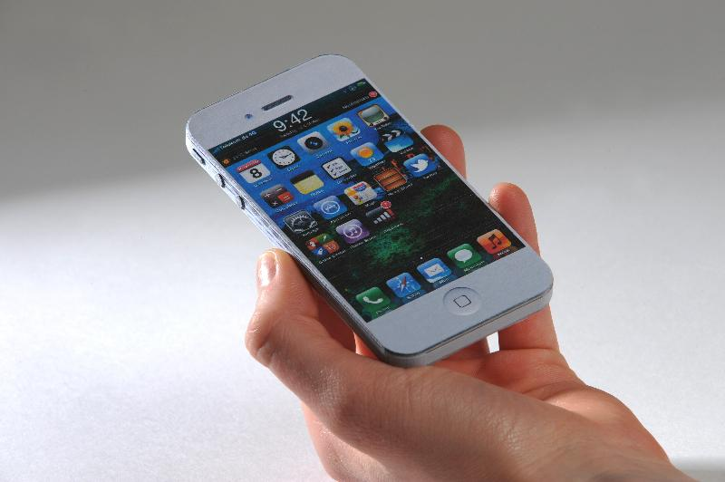 No this isn't a real iPhone.  It was 3D printed on the IRIS