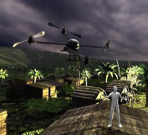 UAV providing aid