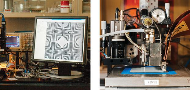 A 3D Printer Wires Chiplets Together - Photo by: Leah Fasten / Source: MIT Tech Review