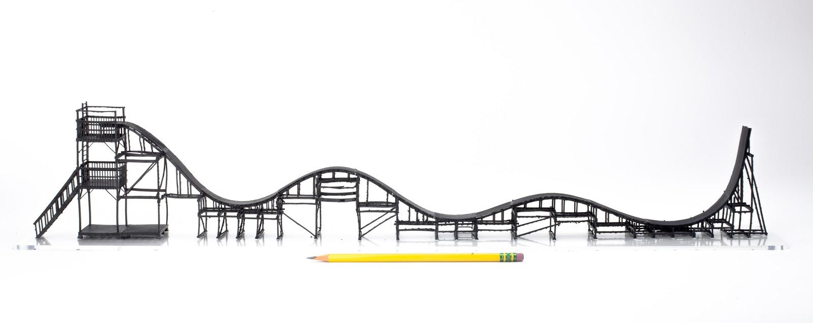 Ben Katz 3D Prints a 1:60 Scale Model Roller Coaster - Now Working the Full Scale Version