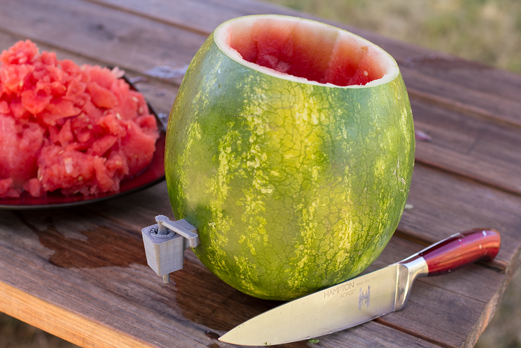 3D Print a Watermelon Tap to Create Your Own Watermelon Keg for That Labor Day BBQ