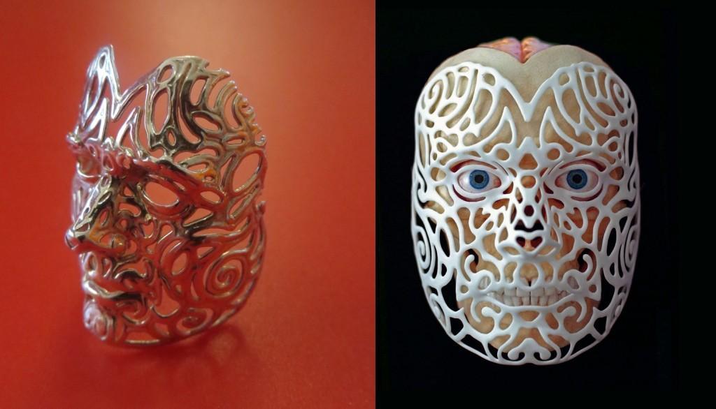 21st Century Portrait (right), Your own custom mask (left)