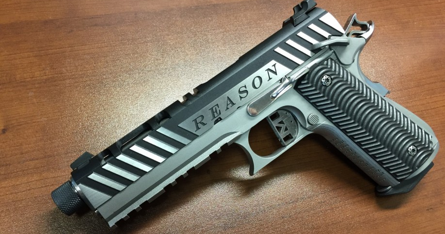 Solid Concepts 3D Prints Another Metal Gun, 'Reason', a 10mm Auto 1911