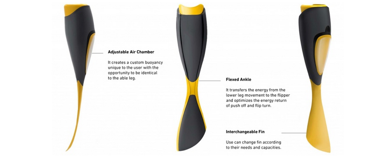 Elle: The Incredible 3D Printed Swimming Leg for Amputees