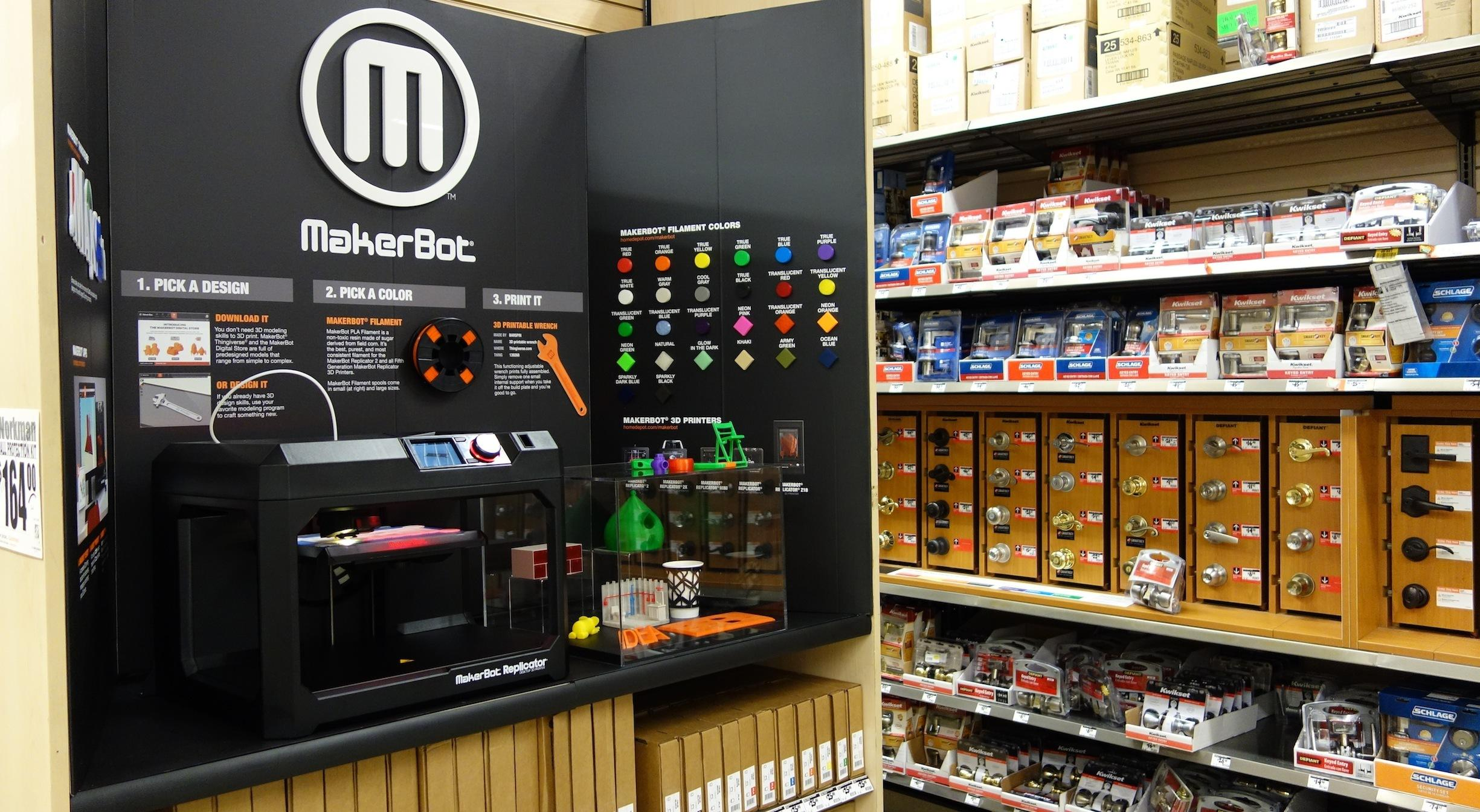Home Depot and MakerBot to Expand Their In-Store Pilot Program to 39 Stores Total in U.S.