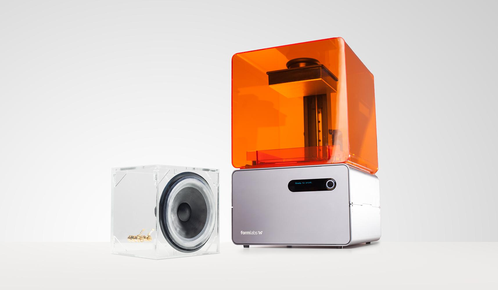 Form 1+ 3D Printer Just Got Draft Mode & Smart Supports - Enables the 3D Printing of a Working Speaker
