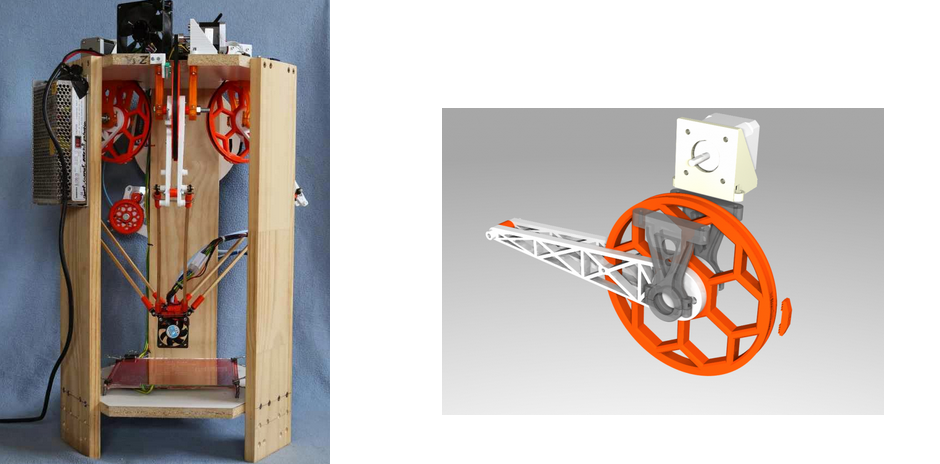 Experimental IcePick Delta 3D Printer Built without Linear Rods or Bearings
