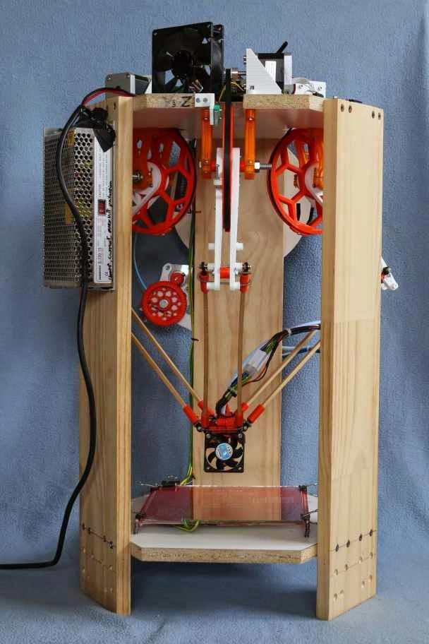 187 Experimental Icepick Delta 3d Printer Built Without
