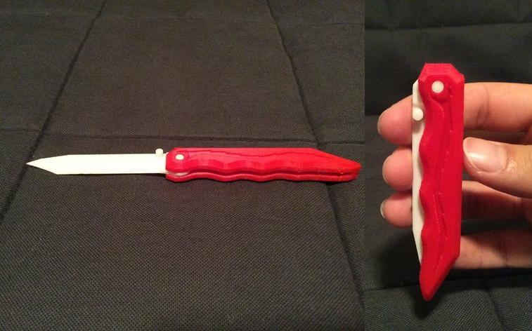 Could This 3D Printed Folding Knife be Cause for Concern? Looks can be Deceiving