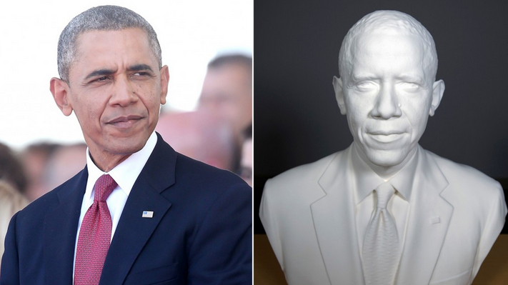 3D Printed Bust of Obama Adds Truly Modern Touch to Presidential Portraiture