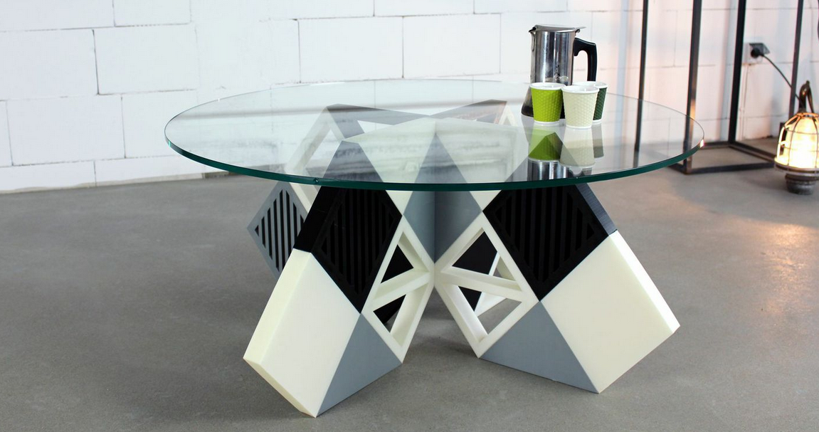 Zortrax 3D Prints an Entire Coffee Table 'KARO' from Their M200 Desktop 3D Printer
