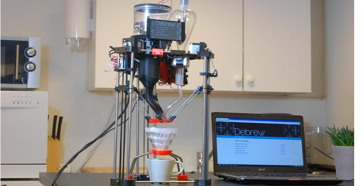 Debrew – Hand Brew Coffee 3D Printer that Creates the Perfect Cup of Joe Every Time