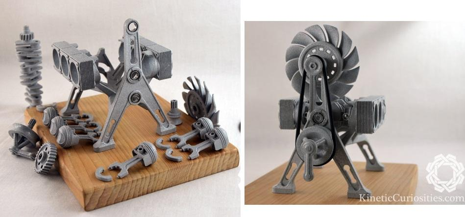 3D Printed Kinetic Sculpture Pays Homage to the Porsche Engine