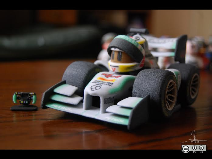 187 3d Printed Mini F1 Drivers Creator Tells Us About His