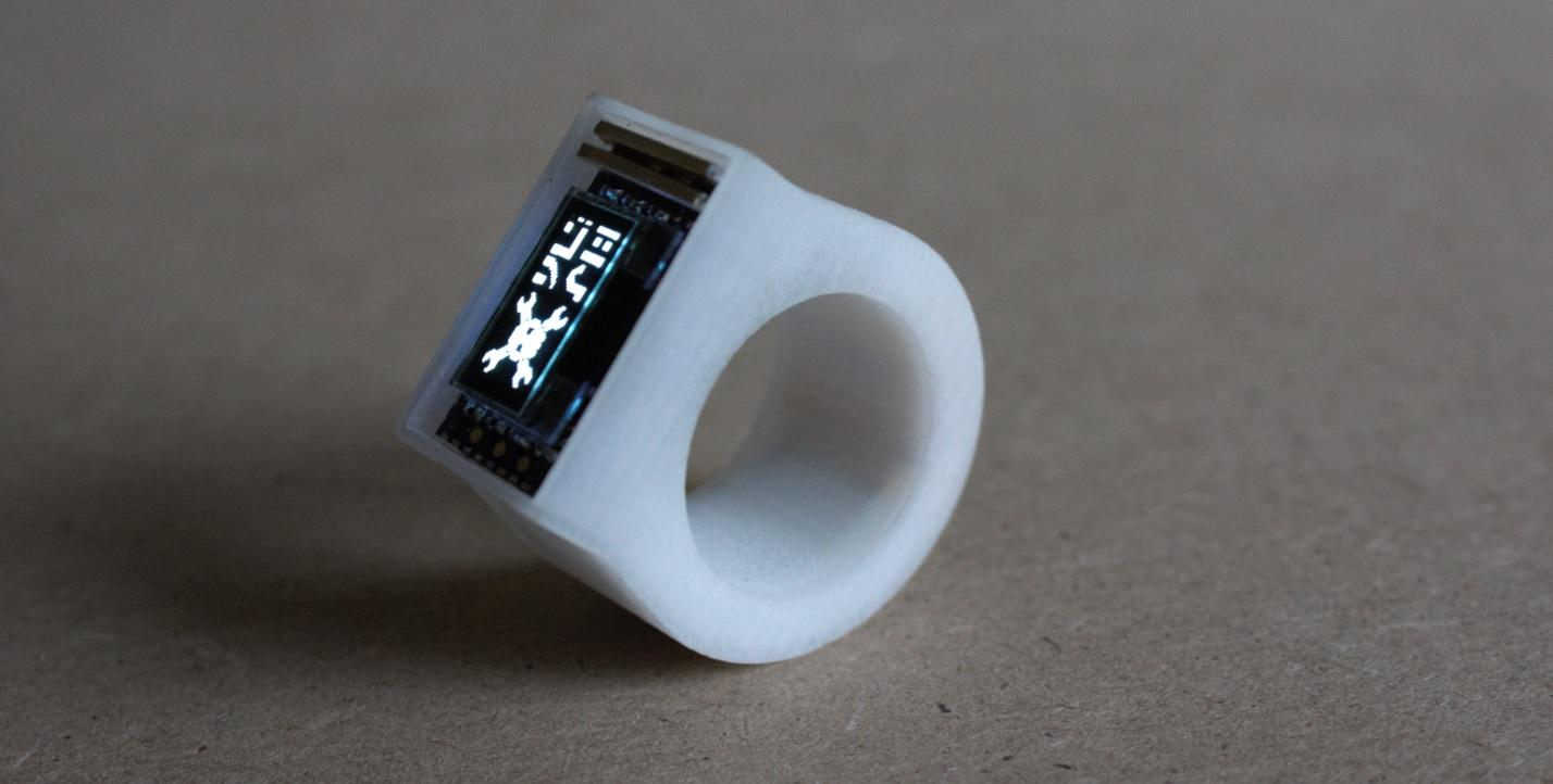 The 3D Printed Ö Bluetooth Ring is One of the Tiniest Personal Computers You Will Ever See