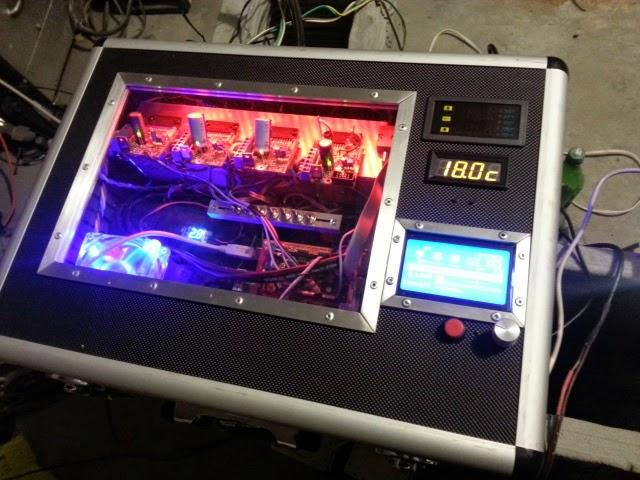 The computer system that drives the 3D house printer.